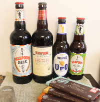 harpoon beers and equal exchange chocolate